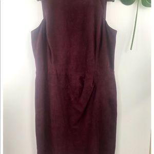 Ralph Lauren Velvet Maroon Dress